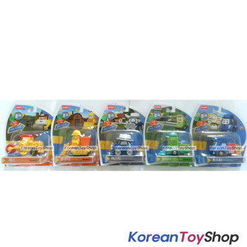 Robocar Poli Diecast Metal 5 pcs Figure Toy Set Max Bruner Musty Cleany Posty