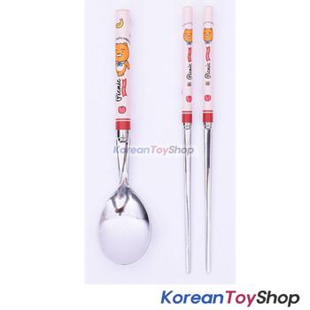 KAKAO Friends RYAN Stainless Steel Spoon & Chopsticks Set Kids BPA Free Korea