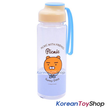 KAKAO Friends RYAN Picnic Silicone Handle Water Bottle 500ml Original BPA Free