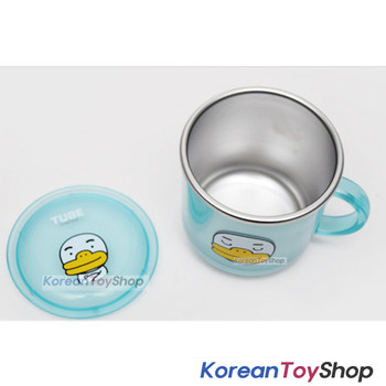 KAKAO Friends TUBE Stainless Steel Cup w/ Lid,Non slip Anti Slip Pads BPA Free