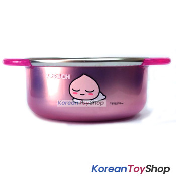 KAKAO Friends APEACH Stainless Steel Small Bowl Handle Non-slip Pads Original