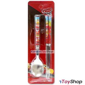 Disney Pixar Cars 3 Stainless Steel Simple Spoon Chopsticks Set BPA FREE