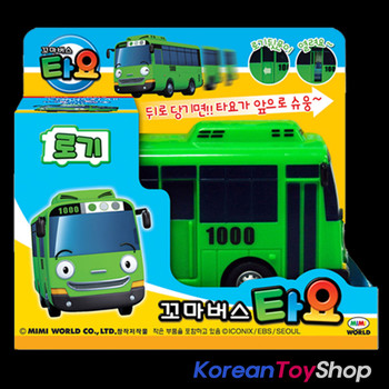 The Little Bus TAYO Main Plastic Diecast Toy Car Original ROGI Model Green Bus