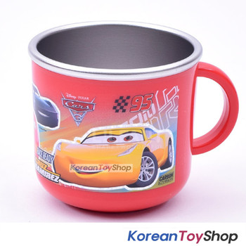 Disney Pixar Cars 3 Stainless Steel Handle Cup w/ Non Slip Pads Korea Original