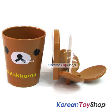Rilakkuma Toothbrush Holder & Cup Set Wall Mount w/ Double Side Tape Original