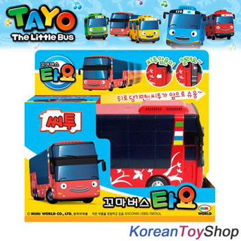 The Little Bus Tayo CITO CITU Model Diecast Plastic Car Double Decker Pull Back
