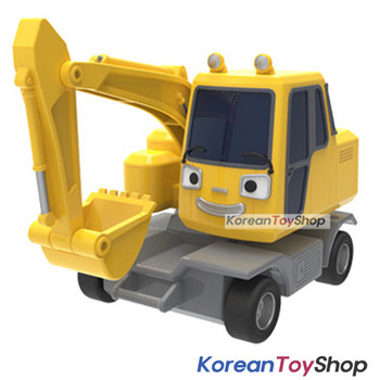 The Little Bus TAYO Diecast Plastic Car POCO Model Excavator Pull Back Gear