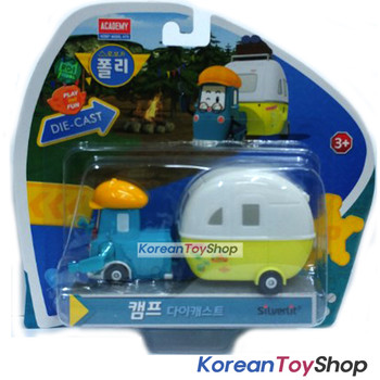Robocar Poli CAMP Diecast Metal Figure Toy Car Camping car Academy Original