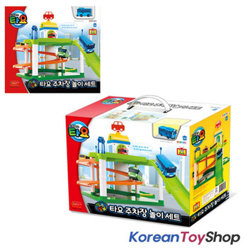 01010 - Korean The Little Bus TAYO Parking Garage Service Center Play Set Toy w/ Tayo