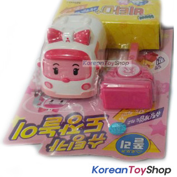Robocar Poli Amber Shooting Mini Car Toy with stamp Key - Amber Model Original