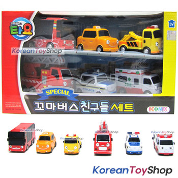 00120 - Little Bus TAYO Friends Special Set V.1 6 pcs Toy Car Toto Cito Nuri Frank Pat Alice