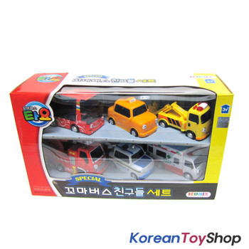 00120 - Little Bus TAYO Friends Special Set V.1 Toy Cars 6 pcs Toto Cito Nuri Frank Pat Alice