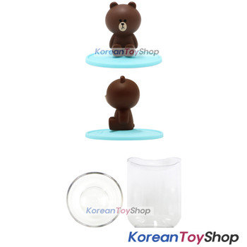 LINE Friends Toothbrush Holder & Cup Set BROWN Model Made in Korea Original