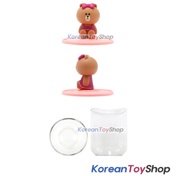 LINE Friends Toothbrush Holder & Cup Set CHOCO Model Made in Korea Original