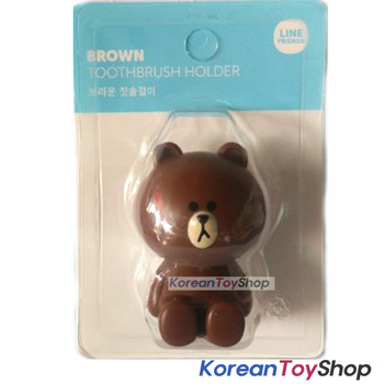 LINE Friends Toothbrush Holder Brown Model Mirror Suction Holder Original
