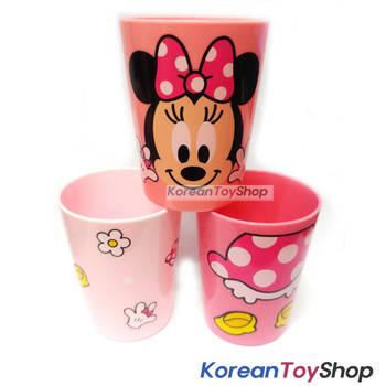 Disney Minnie Mouse Plastic 3 pcs Cups Set Cup Party Supplies Made in Korea
