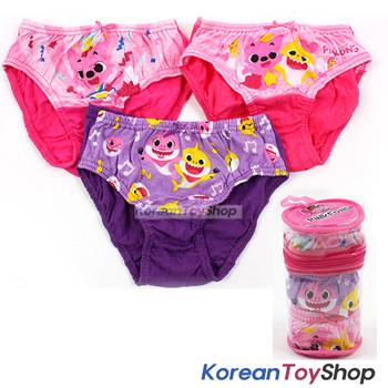 Pinkfong Toddler Girl 3-Pack Briefs Panties Underwear 2T 100% Cotton Original
