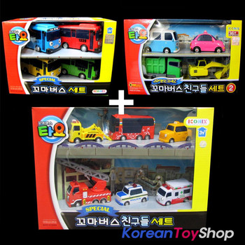 The Little Bus TAYO & Friends 14 pcs Toy Mini Cars Tayo Rogi Rani Gani Max Poco