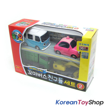 00130 - The Little Bus TAYO & Friends Special 4 pcs Set V.2 Toy Cars Bongbong Heart Max Poco