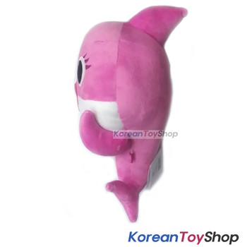 "PINKFONG Pink Shark Cute Soft Animal Doll Plush Toy 11"" Birthday Gift Original"