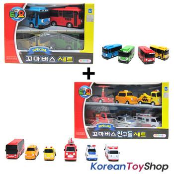 The Little Bus TAYO & Friends Set 10 pcs Cars Set (4 Buses Set + 6 Friends Set)