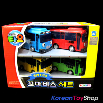 The Little Bus TAYO & Friends Set 10 pcs Cars Set (4 Buses Set + 6 Friends Set)