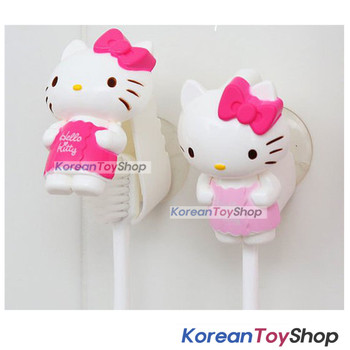 Hello Kitty cute Toothbrush Holder 2pcs Mirror Suction Holder Original