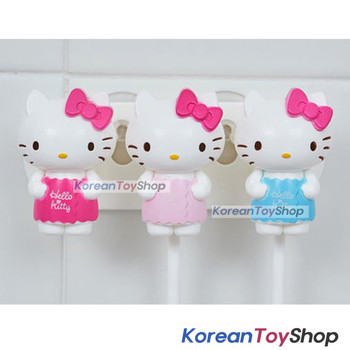 Hello Kitty cute Toothbrush Holder 3pcs Mirror Suction Holder Original