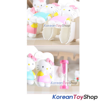 Hello Kitty Toothbrush Holder 3pcs with sandglass Mirror Suction Holder Original