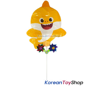 PINKFONG Balloon w/ Pinwheel Birthday Party Supplies - Baby Shark Doll Type