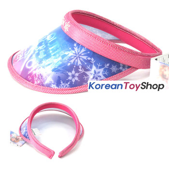 Disney Frozen Visor Hat Sun Cap Kids Girl Pink Color Elsa Designed by Korea