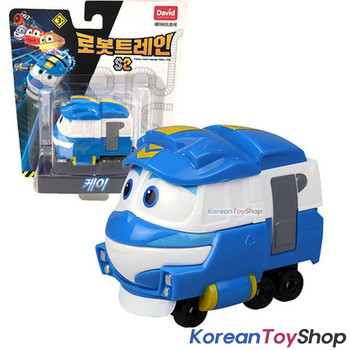 "Robot Trains Kay Friends 10pcs Set Diecast Plastic Toy Car 2"" Series Season 2"