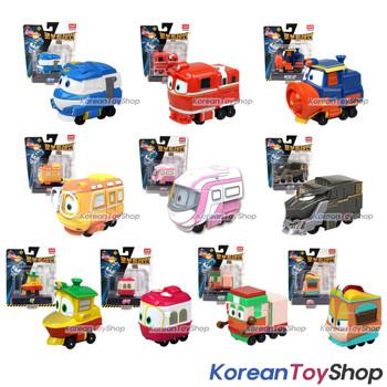 "Robot Trains Kay Friends 10pcs Set Diecast Plastic Toy Car 2"" Series Season 2"