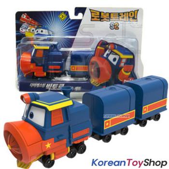 "Robot Trains VICTOR Deluxe Diecast Plastic Mini Toy Car Season 2 Original 2"""