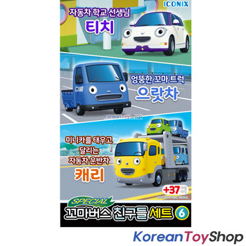 00170 Tayo Little Bus Friends Special V.6 Mini Car 3 pcs Toy Set Teach Iratcha Carry