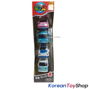 Tayo Little Bus Mini Metal Toy Car 4 pcs Set Heart Tayo Pat Bongbong Original