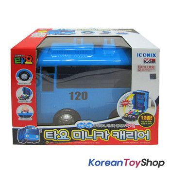 The Little Bus TAYO Car Carrier Storage Toy & Tayo 10 pcs Mini Cars Set