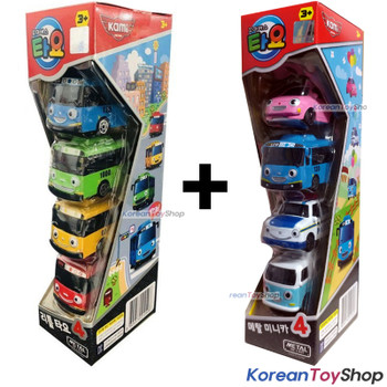 Tayo Little Bus Friends Mini Metal Toy Car 8 pcs Set Rogi Gani Rani Pat Heart