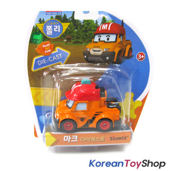 Robocar Poli MARK Diecast Metal Figure Toy Car Pickup Truck Academy Genuine