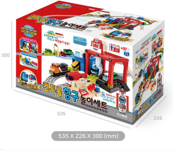 Tayo Bus & Titipo Train Control Harbor Play Set Toy (NOT Included Cars & Trains)