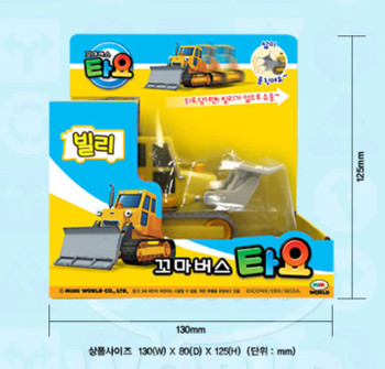 Tayo Little Bus BILLY Main Plastic Diecast Toy Car Original Billy Bulldzer Model