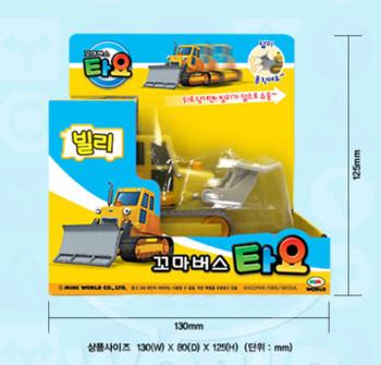 Tayo Little Bus BILLY Main Plastic Diecast Toy Car Original Billy Bulldzer Model