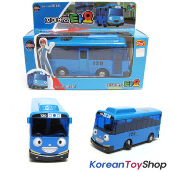 The Little Bus TAYO Diecast Metal Toy Car / Tayo Model, Blue Bus Full Back Gear