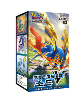 Pokemon Cards SWORD V Booster Box s1W 30 Packs * 5 Cards Sword & Shield Korean