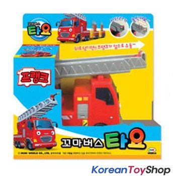 The Little Bus TAYO Diecast Plastic Car - FRANK Model Fire Truck Full Back Gear