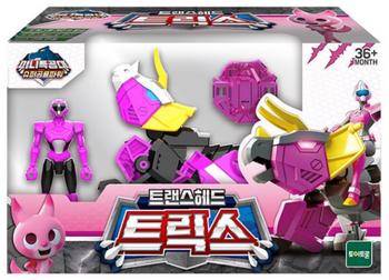 Miniforce Trans Head TRIX Transformer Toy & Figure Pink