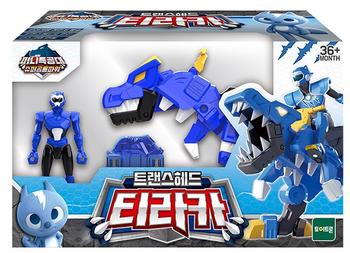 Miniforce Trans Head TYRAKA Transformer Toy & Figure Blue