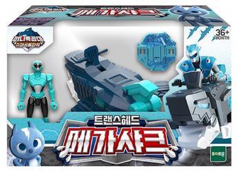 Miniforce Trans Head MEGA SHARK Transformer Toy & Figure