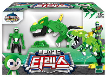 Miniforce Trans Head TREX Transformer Toy & Figure Green