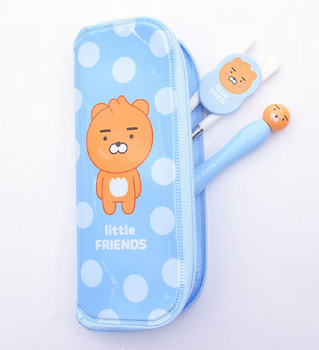 Kakao Little Friends RYAN Stainless Spoon & Training Chopsticks Case Set